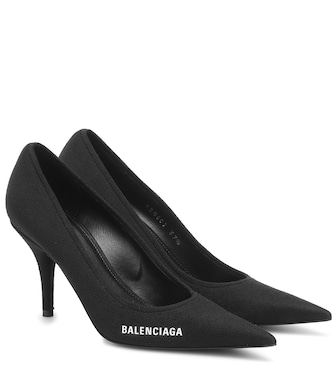 Balenciaga - Pumps Knife aus Strick - mytheresa.com