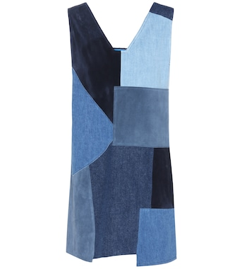 M.i.h Jeans - Suede and denim Marten dress - mytheresa.com