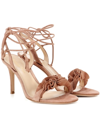 Gianvito Rossi - Flora 85 suede sandals - mytheresa.com