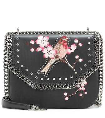 Stella McCartney - Falabella Box embroidered shoulder bag - mytheresa.com