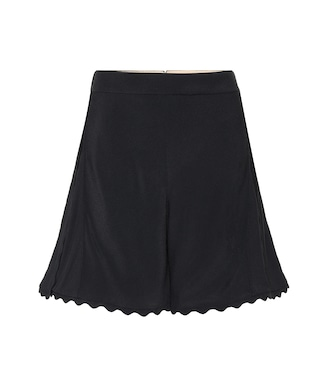 Chloé - Scalloped crêpe shorts - mytheresa.com