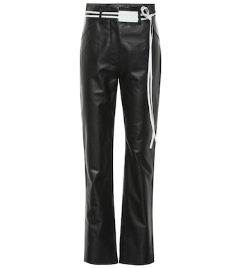 Victoria Beckham - High-rise straight leather pants - mytheresa.com