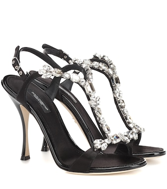 Dolce & Gabbana - Crystal-embellished satin sandals - mytheresa.com