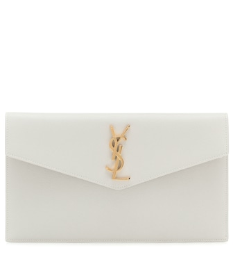 Saint Laurent - Uptown leather clutch - mytheresa.com