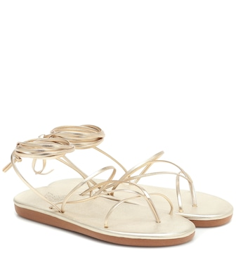 Ancient Greek Sandals - String metallic leather sandals - mytheresa.com