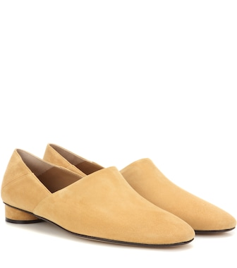 The Row - Noelle suede slippers - mytheresa.com