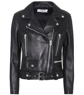 Acne Studios - Leather jacket - mytheresa.com