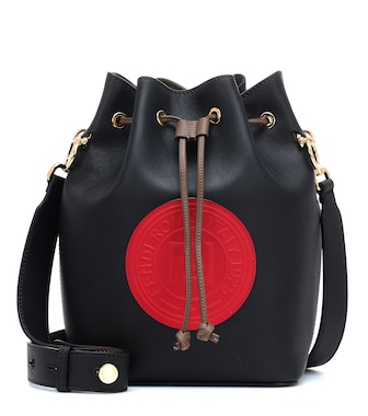 Fendi - Mon Trésor Small leather bucket bag - mytheresa.com