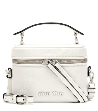 Miu Miu - Leather shoulder bag - mytheresa.com