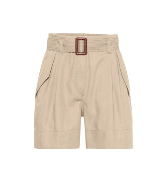 Brunello Cucinelli - High-rise cotton shorts - mytheresa.com