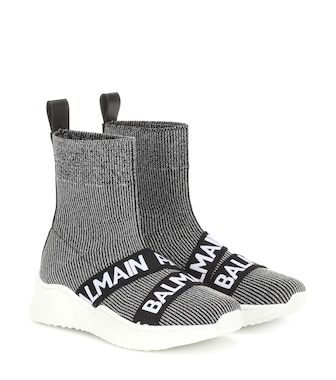 Balmain Kids - High-Top-Sneakers mit Logo - mytheresa.com