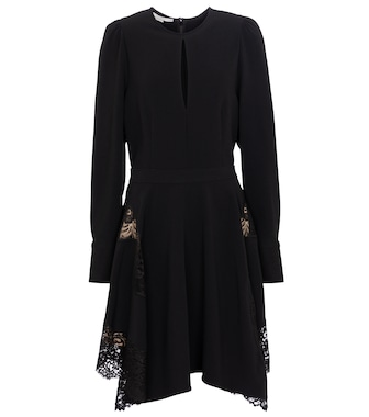Stella McCartney - Celeste lace-trimmed cady minidress - mytheresa.com