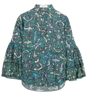 Valentino - Printed cotton blouse - mytheresa.com