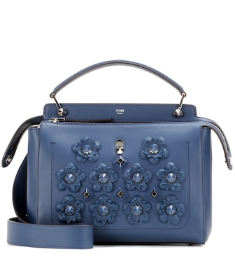 Fendi - DotCom leather shoulder bag - mytheresa.com