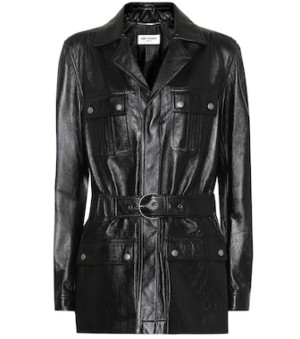 Saint Laurent - Leather jacket - mytheresa.com