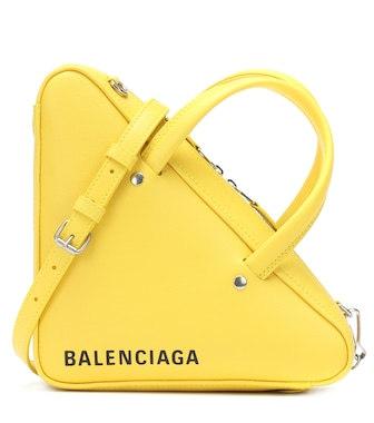 Balenciaga - Triangle Duffle XS leather tote - mytheresa.com
