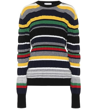 JW Anderson - Striped ribbed-knit sweater - mytheresa.com