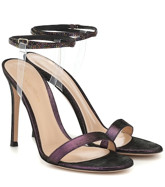 Gianvito Rossi - PVC and leather-trimmed sandals - mytheresa.com