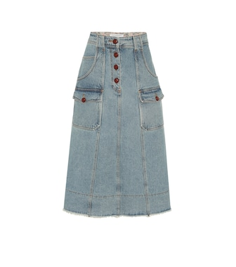 Philosophy Di Lorenzo Serafini - High-rise denim mini skirt - mytheresa.com