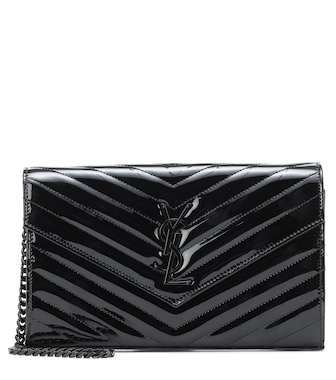 Saint Laurent - Clutch Envelope Small de charol - mytheresa.com