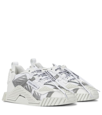 Dolce & Gabbana Kids - NS1 leather-trimmed mesh sneakers - mytheresa.com