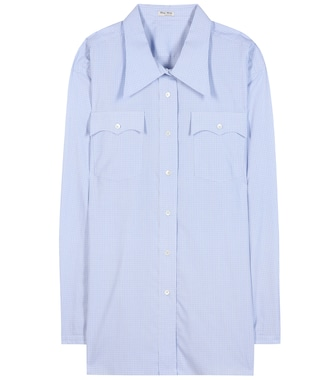 Miu Miu - Oversized cotton blouse - mytheresa.com
