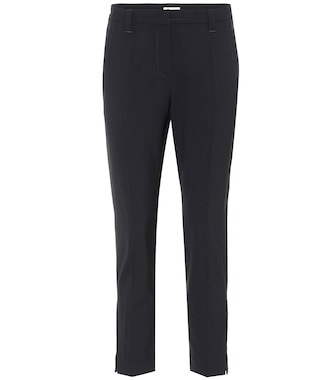 Brunello Cucinelli - Cropped stretch-wool pants - mytheresa.com