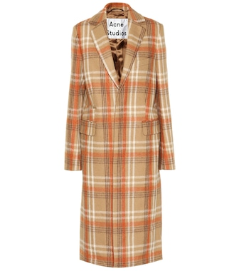 Acne Studios - Checked wool-blend coat - mytheresa.com