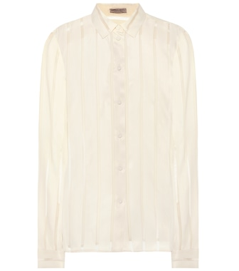 Bottega Veneta - Striped silk-blend shirt - mytheresa.com