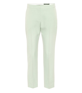 Alexander McQueen - Cropped mid-rise cigarette pants - mytheresa.com