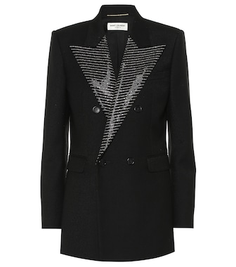 Saint Laurent - Embellished wool blazer - mytheresa.com