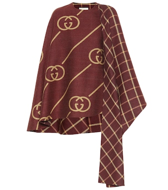 Gucci - Wool and silk cape - mytheresa.com
