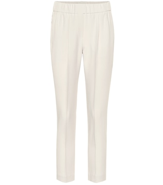 Brunello Cucinelli - Silk-blend cropped pants - mytheresa.com