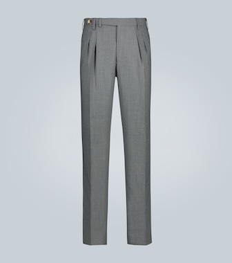 Brunello Cucinelli - Double-pleated virgin wool pants - mytheresa.com