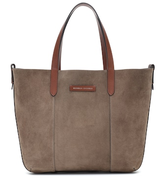 Brunello Cucinelli - Reversible suede and leather shopper - mytheresa.com