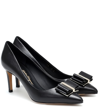 Salvatore Ferragamo - Zeri 70 leather pumps - mytheresa.com