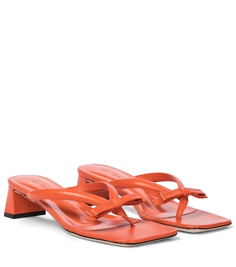 By Far - Bibi leather thong sandals - mytheresa.com