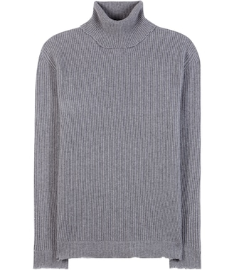 Valentino - Ribbed wool and cashmere turtleneck sweater - mytheresa.com