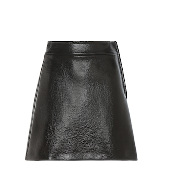 Miu Miu - Faux leather skirt - mytheresa.com
