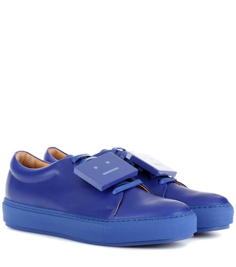 Acne Studios - Adriana TurnUp leather sneakers - mytheresa.com