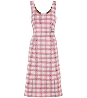 Prada - Plaid sleeveless dress - mytheresa.com