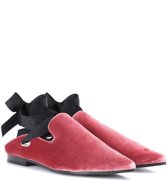 Self-Portrait - X Robert Clergerie Lubay velvet loafers - mytheresa.com