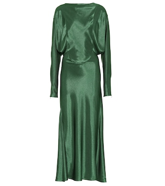 Victoria Beckham - Draped midi dress - mytheresa.com