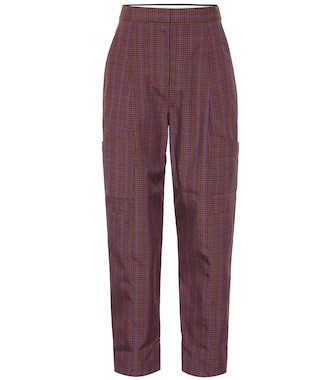 Tibi - Checked wool-blend pants - mytheresa.com