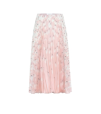 Valentino - Pleated silk midi skirt - mytheresa.com