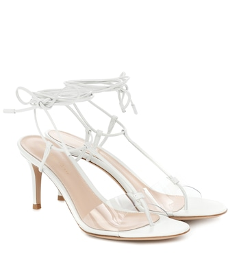 Gianvito Rossi - Gwyneth PVC and leather sandals - mytheresa.com