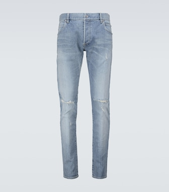 Balmain - Distressed jeans - mytheresa.com