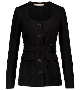 Alaïa - Belted cotton gabardine jacket - mytheresa.com