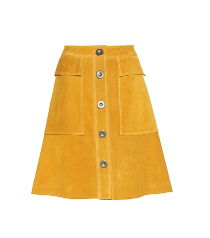 mih jeans female suede skirt