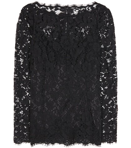 dolce gabbana female cottonblend lace blouse